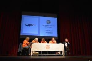 Mesa presidida por (de izquierda a derecha): Luz Ortiz, parte del Comité de plan médico; Ana Santiago, expresidenta de la Heend; Jannell Santana Andino, presidenta de la Heend; José Torres, vicepresidente de la Heend; y Luis García, asesor del Plan Médico.